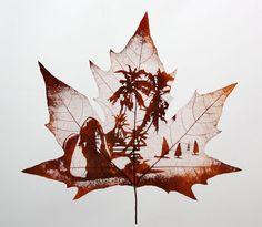 "leaf vein carving ""Scenery"" - Primitives By victor"