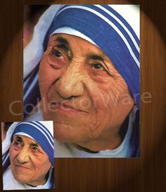 MOTHER THERESA drawing 1 CANVAS PAINTING. All original paintings direct from the artist, available as oil or acrylic, feel free to choose the artistic technique of your preference. To purchase this, or for painting orders, please contact us at info@collectorware.com, or visit http://www.collectorware.com/canvas-1famous_characters.htm