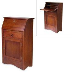 Buy Walnut Secretary Desk from Bed Bath & Beyond