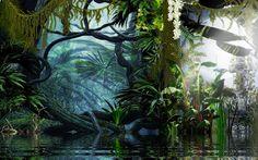 Image result for landscape jungle