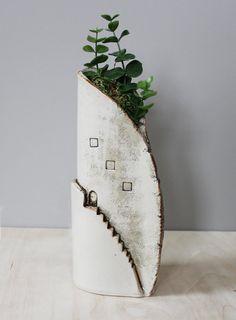 Tall Step Vase
