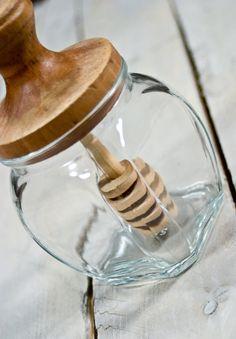Vintage Honey Pot Honey Jar Glass Honey Jar by TheVintageIslandInc, $18.00