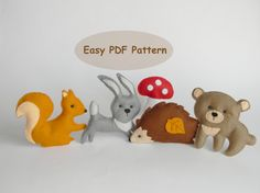 PDF pattern Woodland creatures Baby mobile by ForestFriendsShop