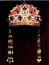 The camaleuco (kamelaukion), crown of Constance of Aragon (13th century CE) -- Palermo, Cathedral Treasure