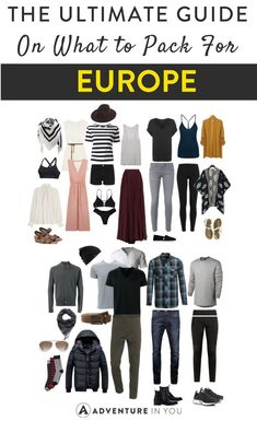 Europe Packing List   Traveling Europe? Here's our ultimate guide on what to bring!