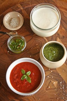 Homemade Pizza Sauce recipe. I discovered basil paste in the fresh veggie isle.  Fantastic!!