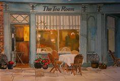 The Tea Room Painting  - The Tea Room Fine Art Print