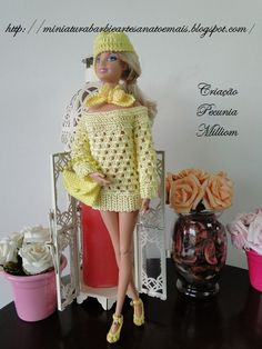 Superb Roupa de croch para Barbie criada por Pecunia MM