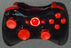 Custom New Xbox 360 Wireless Controller - Glossy Red & Black via Etsy
