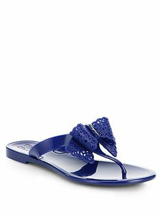 ef347f8d5b02c Salvatore Ferragamo - Pandy Bow Jelly Thong Sandals Salvatore Ferragamo  Shoes