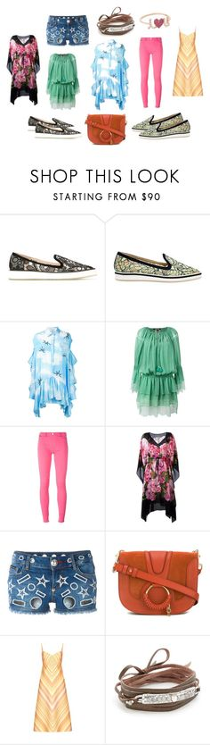 """followers"" by kristen-stewart-2989 ❤ liked on Polyvore featuring Nicholas Kirkwood, Natasha Zinko, Roberto Cavalli, Love Moschino, Dolce&Gabbana, Philipp Plein, See by Chloé, Valentino, Chan Luu and Sydney Evan"