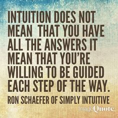 #Intuition is a guiding force in life. Intuition is not #oppressive or #aggressive it is #gentle and #kind