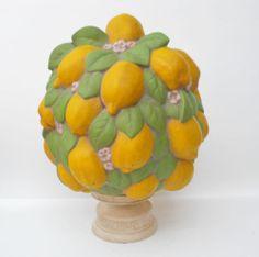 Ceramic Lemon Topiary Table Centerpiece Signed Cm | eBay