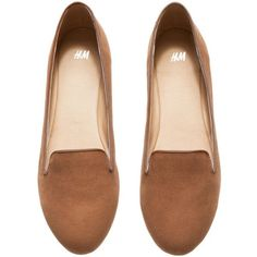 H&M Loafers (245 MXN) ❤ liked on Polyvore featuring shoes, loafers, flats, sapatos, zapatos, flat heel shoes, flat pumps, rubber sole shoes, flat loafer shoes and h&m loafers