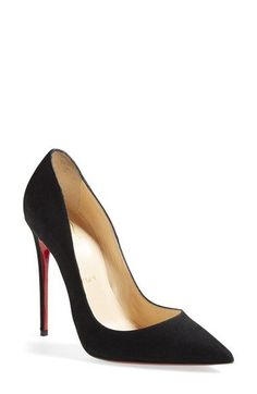 Christian Louboutin 'So Kate' Pointy Toe Suede Pump available at #Nordstrom