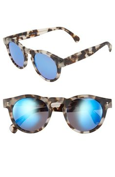 2b5c2fdb1b4 Illesteva+ Leonard +48mm+Mirrored+Sunglasses+available+at+