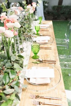 Signature Party Rentals | Wedding Inspiration | Outdoor Wedding | Party Planning | Tablescape | Decor | Design | Wedding Reception | Greenery Wedding | Clear Tented Palm Springs Wedding #weddingdecoration
