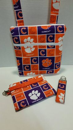 Hey, I found this really awesome Etsy listing at https://www.etsy.com/listing/264018388/clemson-tigers-crossbody-bag