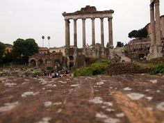 ancient ruins of Rome, Italy