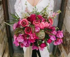 Buquê com lindos tons de rosa <3 Um editorial dos sonhos… | Revista Casare