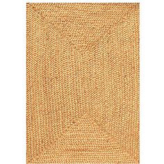 @Overstock.com.com - Hand-woven Braided Jute Rug (6' x 9') - Instantly update your home decor with a casual jute rug. This durable area rug is hand-woven from jute material. $148.49