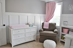 Look at this sweet pink and gray nursery featuring the Best Chairs Storytime Quinn Glider!...www.greatbridgefurniture.com