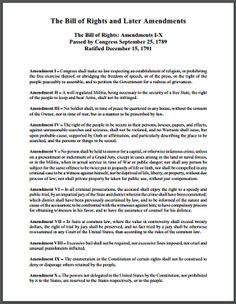 Bill of rights worksheet high school pdf