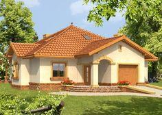 Projekat atraktivne prizemne kuće – Ramzes Design Exterior, House Paint Exterior, Dream House Exterior, Modern Bungalow House, Modern House Plans, Small House Plans, House Balcony Design, Village House Design, Home Room Design