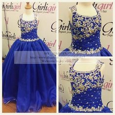 Royal Blue Real Images Little Girls Size 13 Pageant Glitz Dresses 2015 A Line Puffy Crystal Sequins Interview Suits For Size 10 12 Crystal Pageant Dresses Girls Pageant Dresses Pageant Dresses For Teens Online with $169.15/Piece on In_marry's Store | DHgate.com