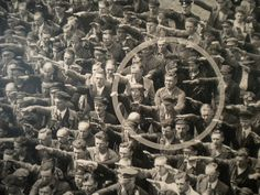 The courage to say no. The photo was taken in Hamburg in 1936, during the celebrations for the launch of a ship. In the crowed, one person refuses to raise his arm to give the Nazi salute. The man was August Landmesser. He had already been in trouble with the authorities, having been sentenced to two years hard labour for marrying a Jewish woman. Funny Pics, Funny Quotes, Funny Pictures, Memes Of The Day, Eurotrip, Feels, Scary, Funny Texts, Guy