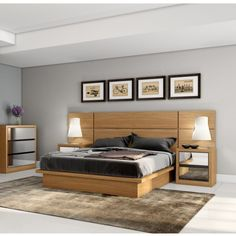 Low Double Bed without Headboard Dalla Costa - Viva Decora - Low Double Bed without Headboard Dalla Costa - Bedroom Wall Designs, Bedroom Closet Design, Bedroom Furniture Design, Bed Furniture, Furniture Layout, Wood Bed Design, Bed Frame Design, Bed Designs In Wood, Bed Without Headboard