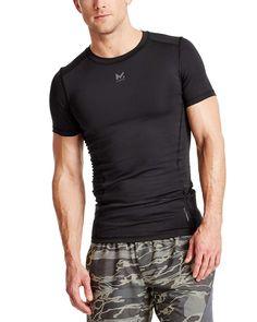 50ff0bed7 Men's VaporActive Voltage Short Sleeve Compression Shirt - Moonless Night -  CV12M4MNQD1