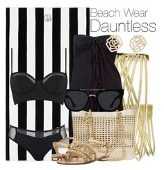 """""""Beach Wear: Dauntless"""" by the-wonders-fashion ❤ liked on Polyvore featuring Pottery Barn, Raviya, Chanel, Quay, Topshop, MICHAEL Michael Kors, Charlotte Russe and dauntless"""
