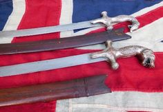 ANTIQUE BRITISH INDIA DOG HEAD TEMPLE SERVANTS SWORD