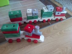 Wooden trains for kids