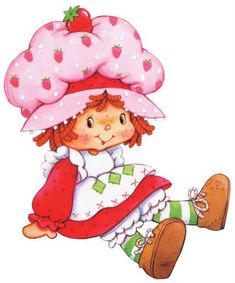 Strawberry Shortcake is a bright and energetic little girl with red hair and freckles with a big, adorable smile, said to be about six years old. Strawberry is kind, resourceful, and always ready to help a friend in need. Strawberry Shortcake Cartoon, Hello Kitty, Image Clipart, Dibujos Cute, Sarah Kay, Rainbow Brite, Holly Hobbie, American Greetings, Classic Cartoons