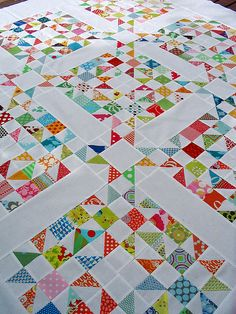 Galaxy of Stars quilt...making it with Denyse Schmidt Flea Market Fancy...slow going...