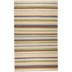 Refresh your home for summer with this must-have design.  Product: RugConstruction Material: 100% WoolColor: MultiFeatures:  Hand-wovenMade in India Note: Please be aware that actual colors may vary from those shown on your screen. Accent rugs may also not show the entire pattern that the corresponding area rugs have.Cleaning and Care: Blot stains