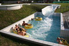 Amusez vous dans la rivière à bouée du Complexe Aquatique AquaJade   www.vert-marine.com/aquajade