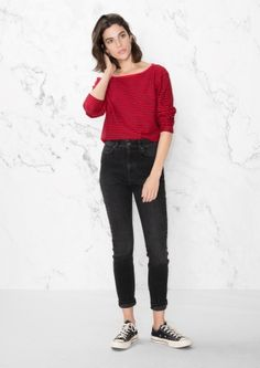 & Other Stories   High-Rise Skinny Jeans
