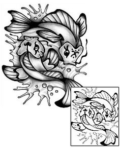 Show details for Marine Life Tattoo Marine Life tattoo | ANF-01866