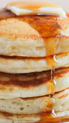The Best, Most Perfect Pancakes Ever ~ They are incredibly light and fluffy, and have the perfect taste and texture.