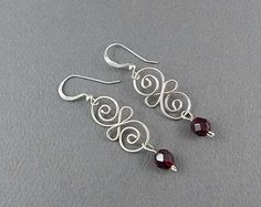 Wire Work Loopy Drop Earring Sterling Silver by WireExpressions
