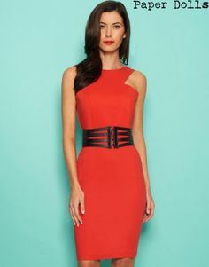 Paper Doll Low Back Bodycon Dress
