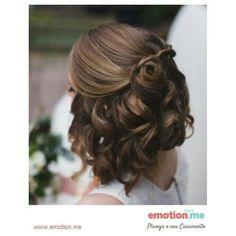 Inspiração de penteado para as noivinhas de cabelo curto.