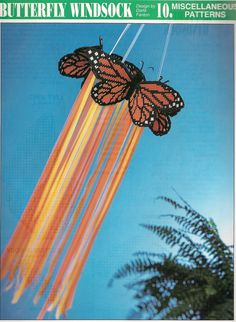 Butterfly Windsock Plastic Canvas Pattern by needlecraftsupershop, $3.00
