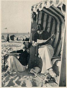 Wangeroog 1939 strandstoelen | illustratie tijdschrijft op d… | Flickr