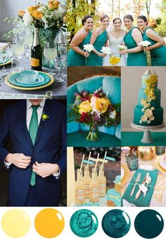 5 unique wedding color palettes inspired by nail polish wedding teal Wedding Themes Green Color Palettes 2018 Wedding Colors, Unique Wedding Colors, Spring Wedding Colors, Wedding Color Schemes, Unique Weddings, Peacock Wedding Colors, Spring Colors, Wedding Colors Green, Teal Wedding Decorations
