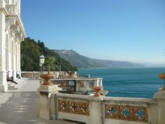 Trieste's Miramare Castle opens out to the Adriatic Sea