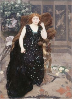 Portrait of Jane Hading, Alfred Roll